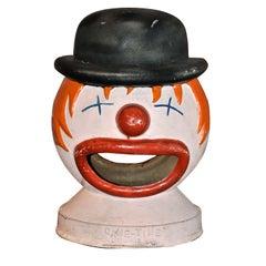 Vintage Carnival Iron Clown Head