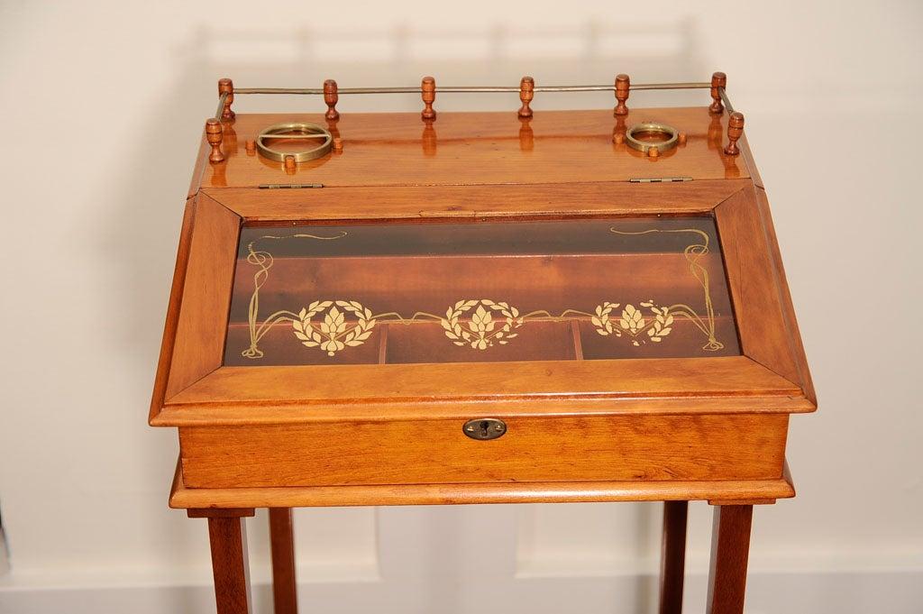 Biedermeier Cigar Desk In Good Condition For Sale In Pompano Beach, FL