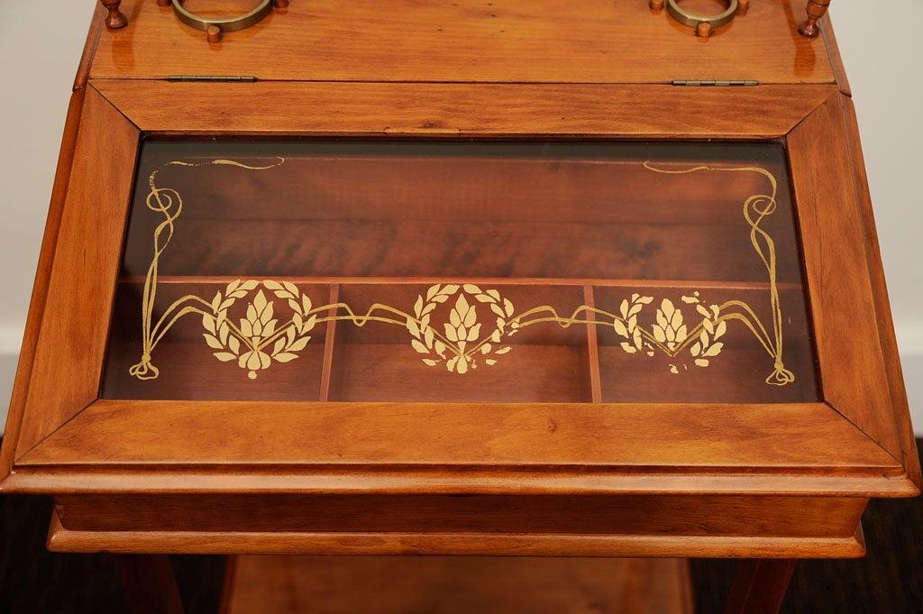 Oak Biedermeier Cigar Desk For Sale