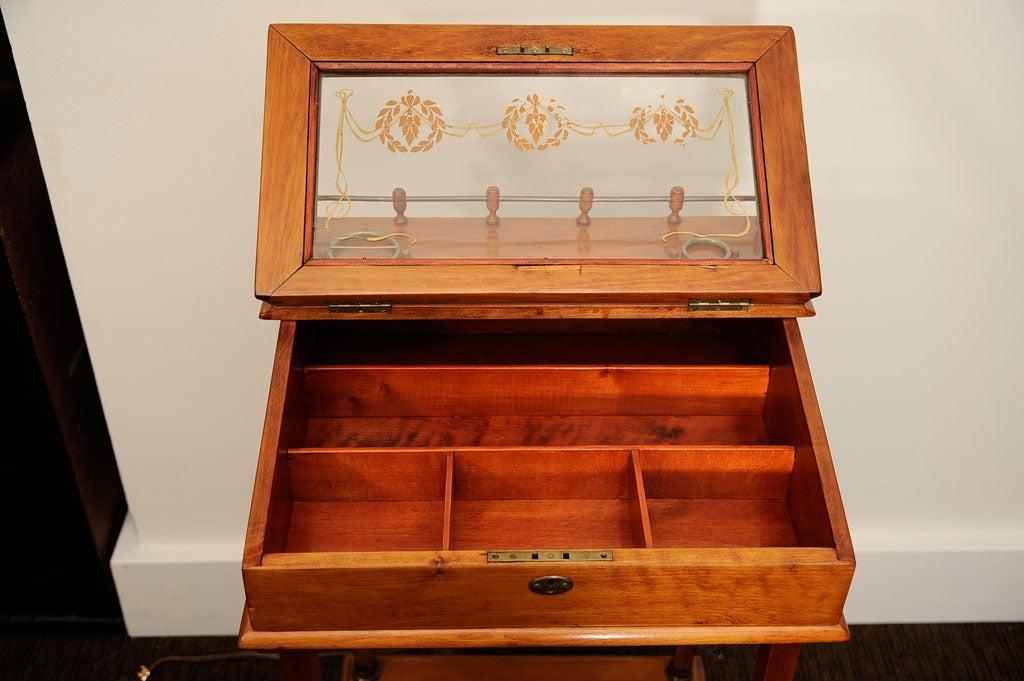 Biedermeier Cigar Desk For Sale 1