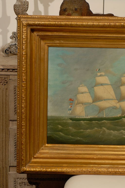 English Large ship Painting For Sale