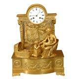 period 1st Empire bronze  dore clock
