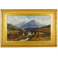 Welsh  landscape oil on canvas