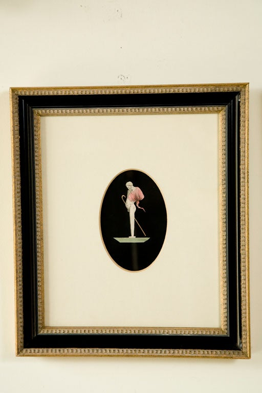 Pair of Hand Colored Herm Prints In Excellent Condition For Sale In Los Angeles, CA