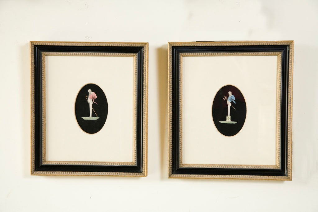 Pair of Hand Colored Herm Prints For Sale 4
