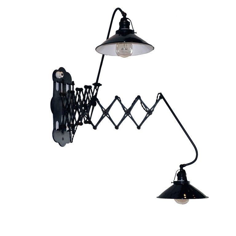 Wall Lamp With Extending Arm : ITALIAN DOUBLE-ARM EXTENDING SCONCE at 1stdibs
