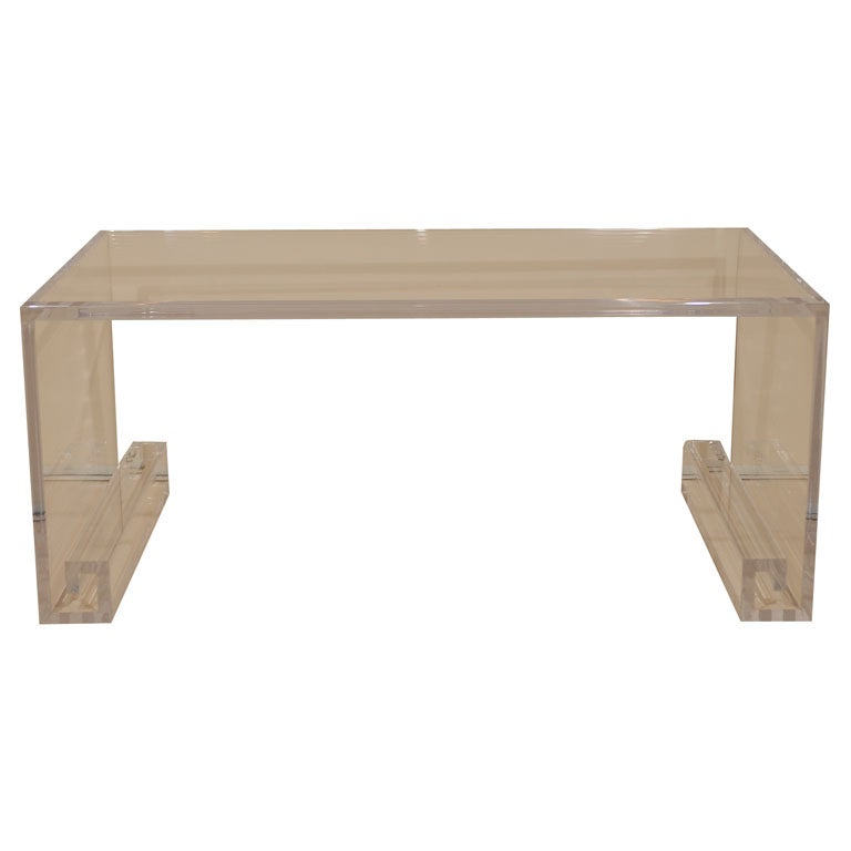 Acrylic Greek Key Coffee Table 1