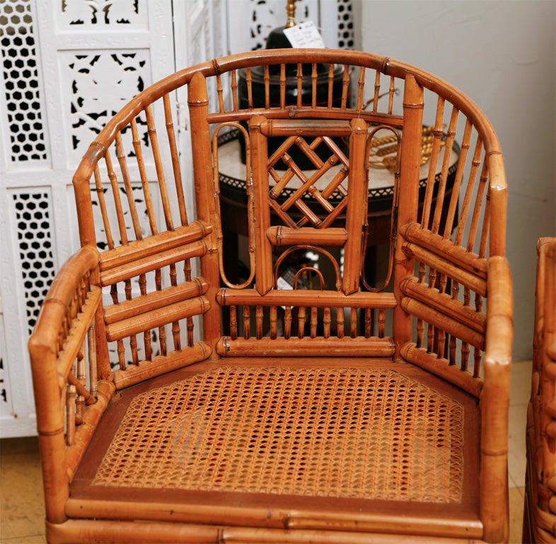 Vintage Brighton Bamboo Arm Chairs At 1stdibs