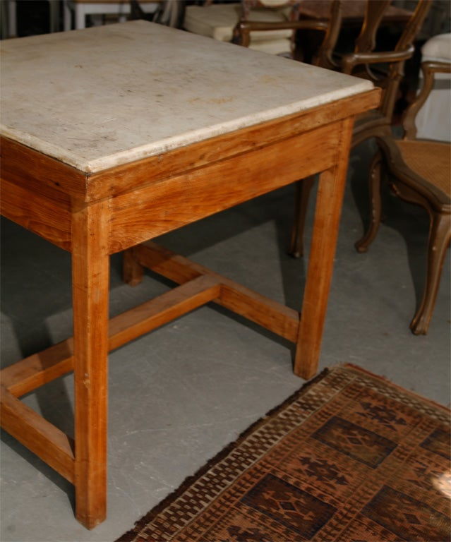 french marble top baker 39 s work table for sale at 1stdibs. Black Bedroom Furniture Sets. Home Design Ideas