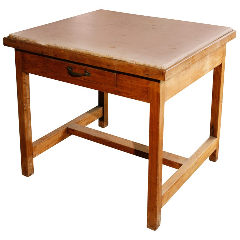 French Marble Top Baker 39 S Work Table At 1stdibs