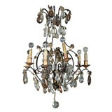 Maison Jansen Bronze and Crystal Chandelier