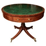 Regency Mahogany Drum Table