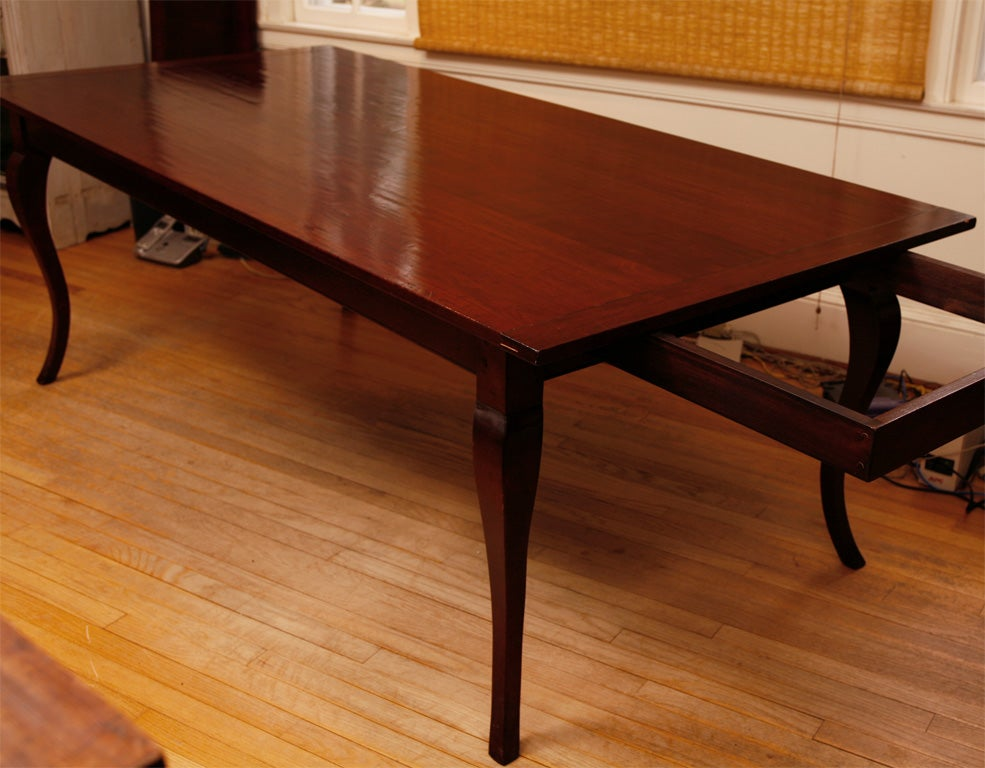 reproduction cherry table with two leaves at 1stdibs. Black Bedroom Furniture Sets. Home Design Ideas