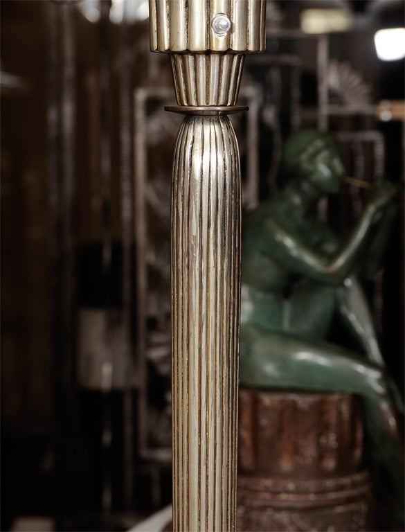 Bronze Art Deco Floor Lamp For Sale