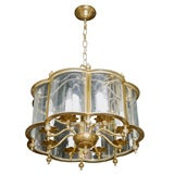 Round French Brass Chandelier