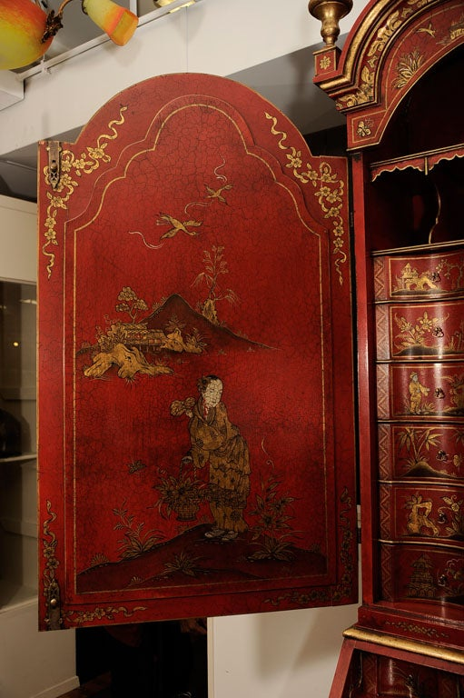 Early 20th Century English Chinoiserie Secretaire For Sale 2