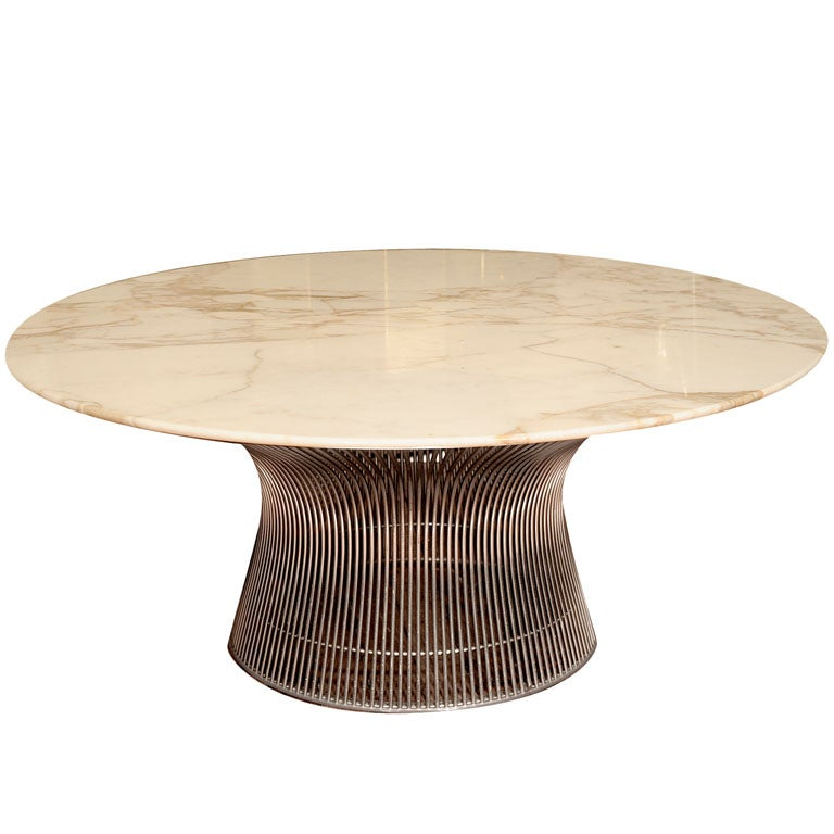 Warren Platner for Knoll Marble Top Coffee Table 1