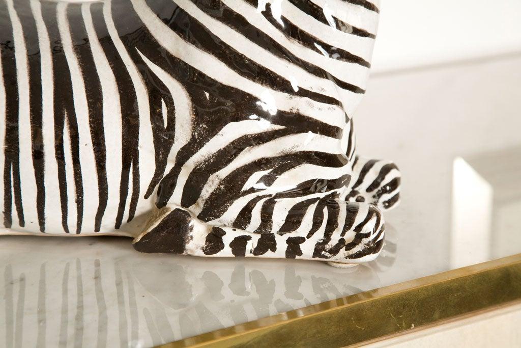 Italian Ceramic Zebra with Painted Finish 4