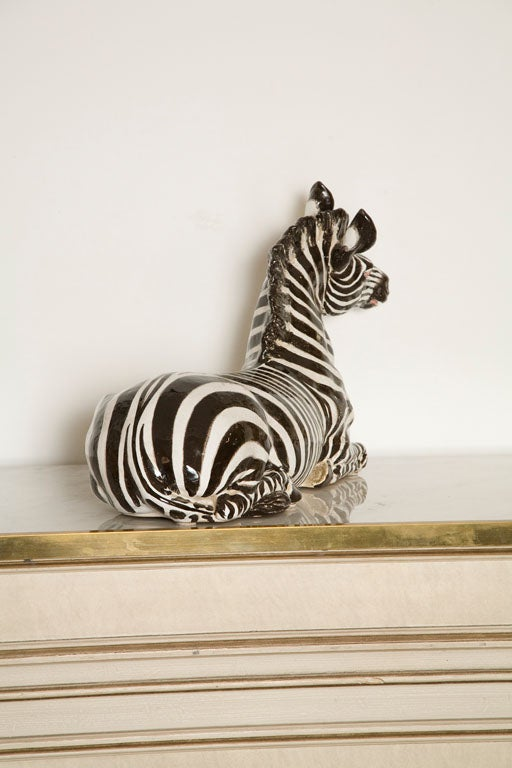 Italian Ceramic Zebra with Painted Finish 6
