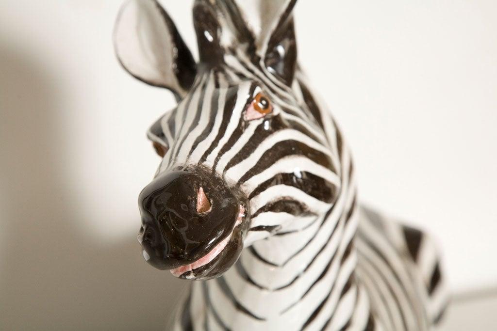 Italian Ceramic Zebra with Painted Finish 8