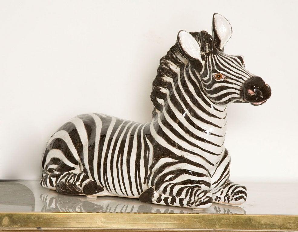 Italian Ceramic Zebra with Painted Finish 10