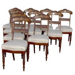 Set 10 Late Beidemeier Dining Chairs