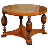 Art Deco Burlwood Table