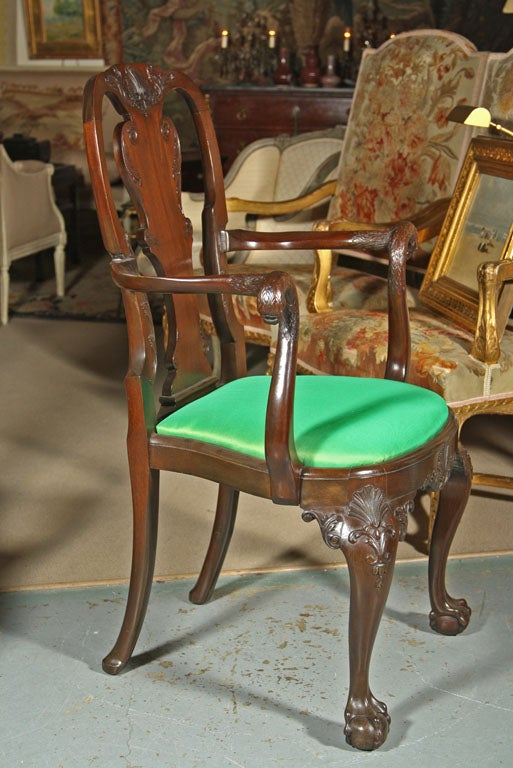 Set of irish mahogany dining chairs for sale at stdibs