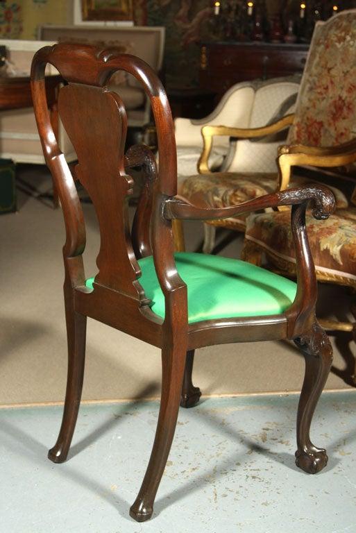 Set of Irish Mahogany Dining Chairs For Sale 2