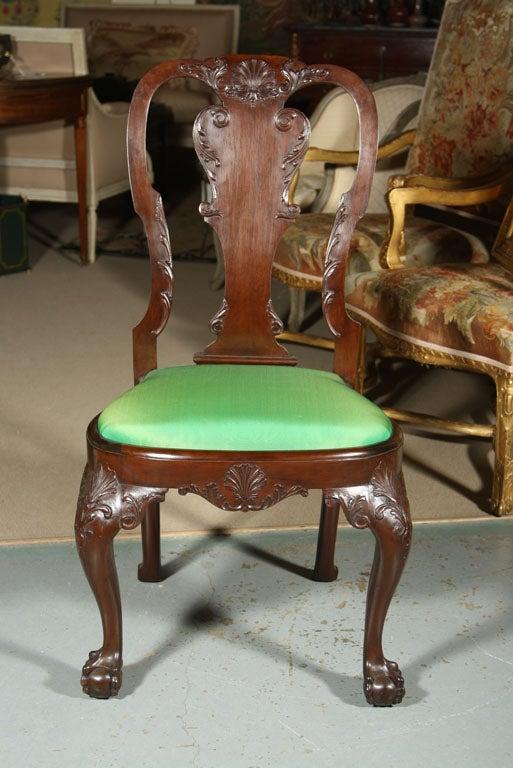 Set of Irish Mahogany Dining Chairs For Sale 5