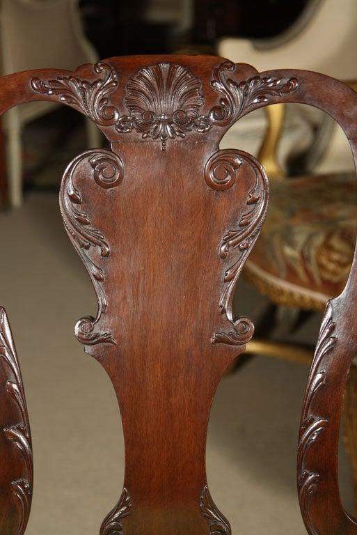 Set of Irish Mahogany Dining Chairs For Sale 6