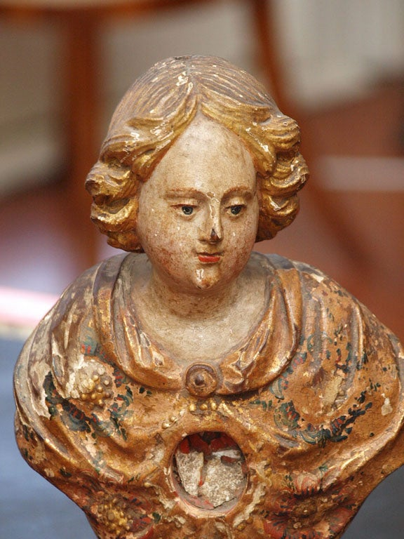 Carved PAIR OF 18TH C ITALIAN  RELIQUARY For Sale