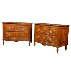Pair of Fine Italian Neoclassical commodes, Parma ca. 1780