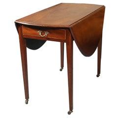 English Mahogany Oval Pembroke Table