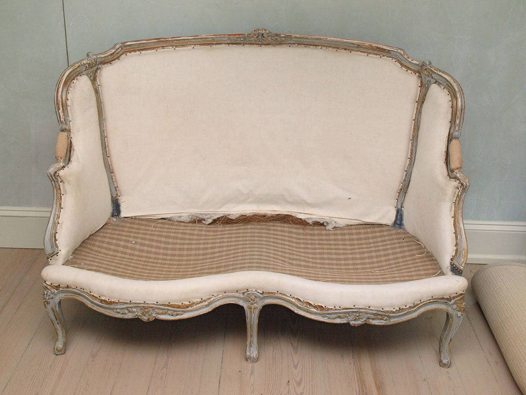 19th c louis xv canape at 1stdibs. Black Bedroom Furniture Sets. Home Design Ideas
