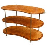 Burled Elm and Rosewood Banded Trolley
