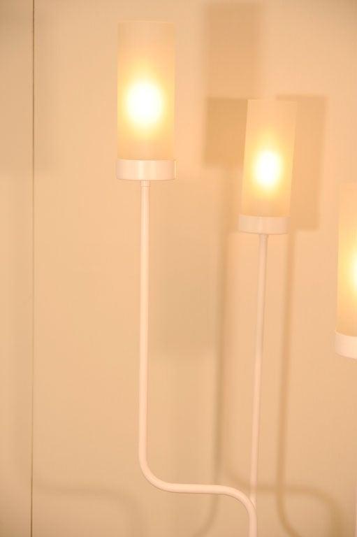 Four stem floor lamp at 1stdibs for Floor lamp glass stem