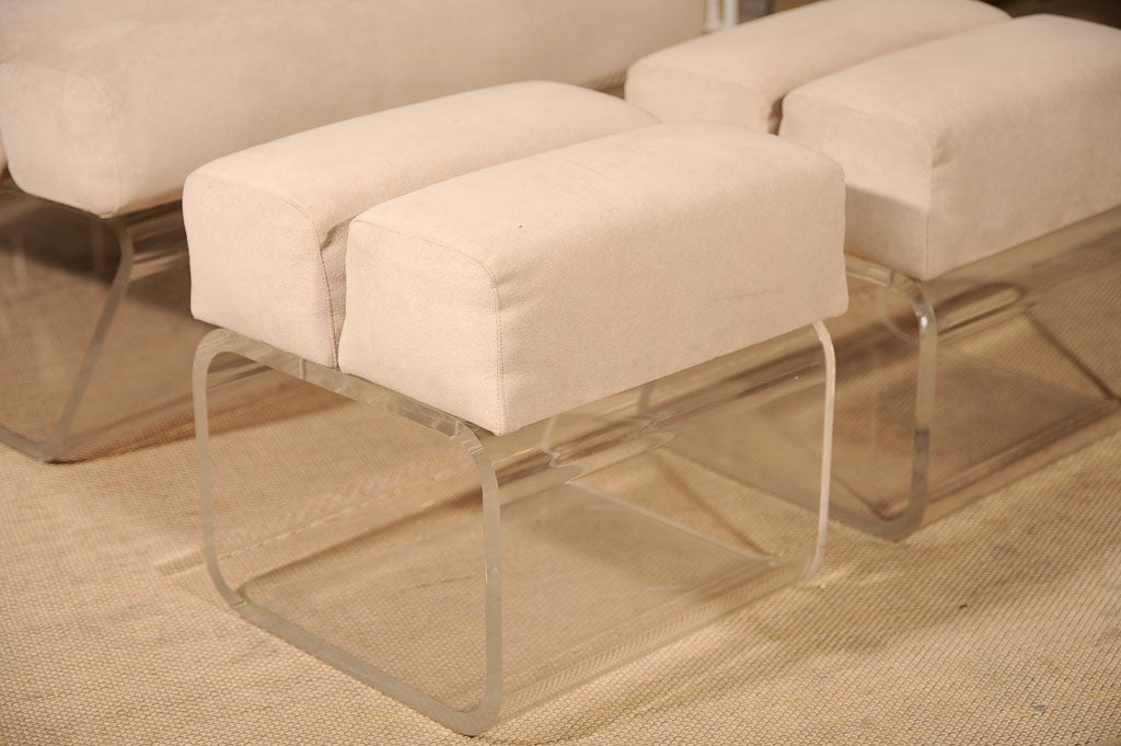 lucite chair and ottoman 2