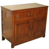 Antique English country oak dresser/cupboard.