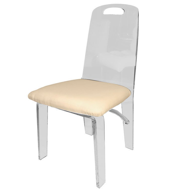 A Lucite Desk Chair at 1stdibs