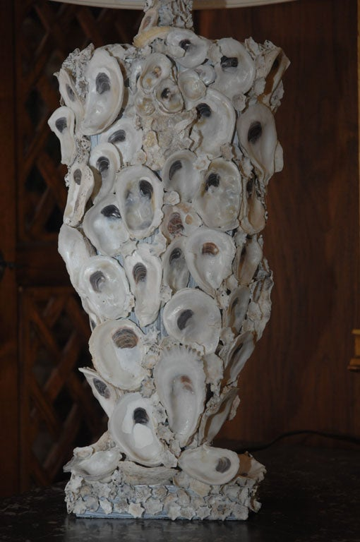 Pair of Oyster Shell Lamps
