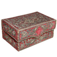 Italian Silver Embroidered Velvet Box