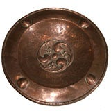 English Arts and Crafts Hammered Copper Charger