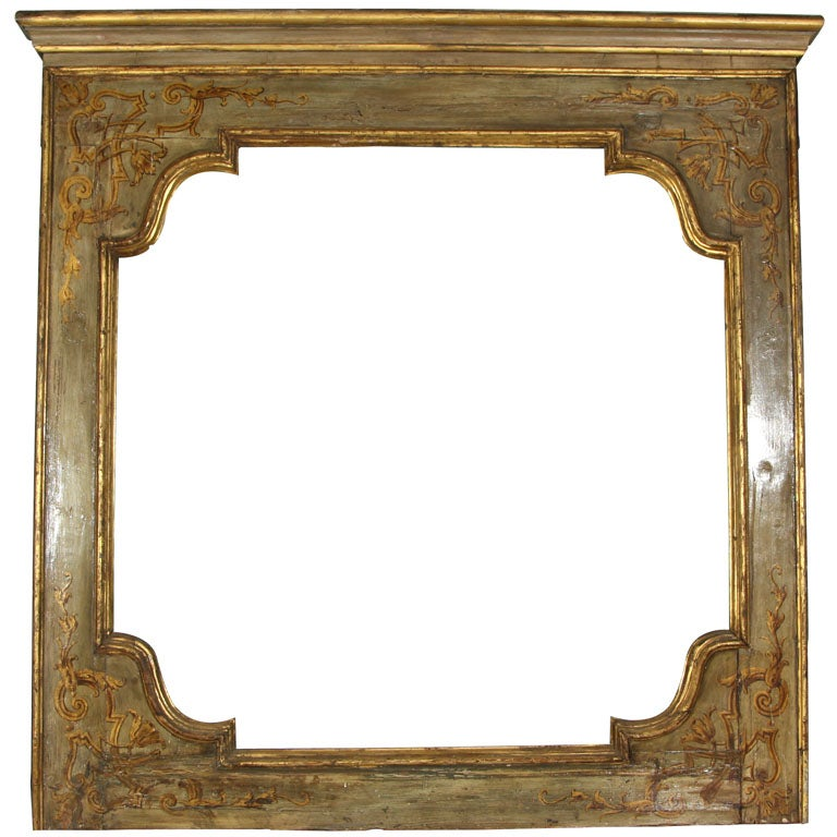 LARGE 60 x 56 Square Frame with Shaped Interior Venetian ...