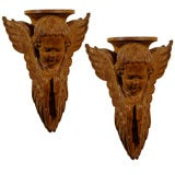 Pair of French cherub Wall Brackets