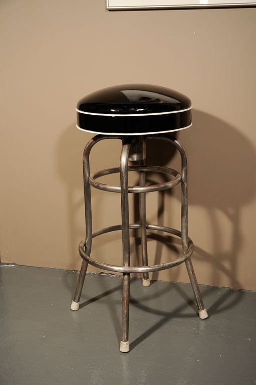 Set Of 4 Quot Diner Quot Bar Stools With Custom Patent Leather