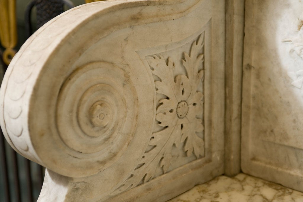 Carved Marble Bench 4