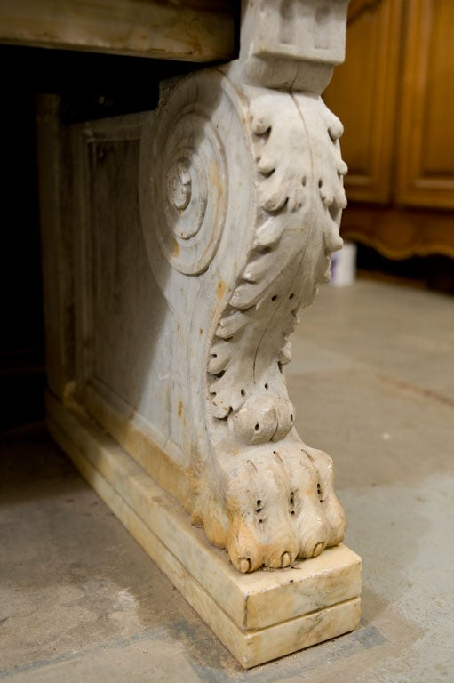 Carved Marble Bench 9