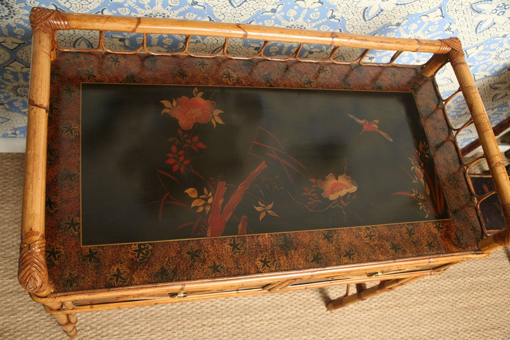 19th Century English  Bamboo Writing Table or Desk For Sale 2