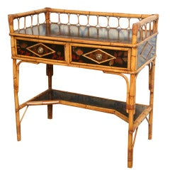 19th Century English  Bamboo Writing Table or Desk